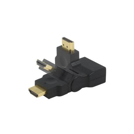 Adaptador HDMI M/ HDMI H (Giratorio)