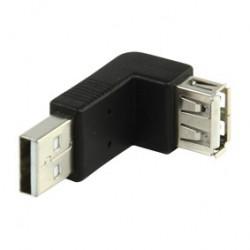 Adaptador USB A/A en ángulo de 90º