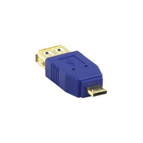 Adaptador USB A Hembra - Micro USB A Macho