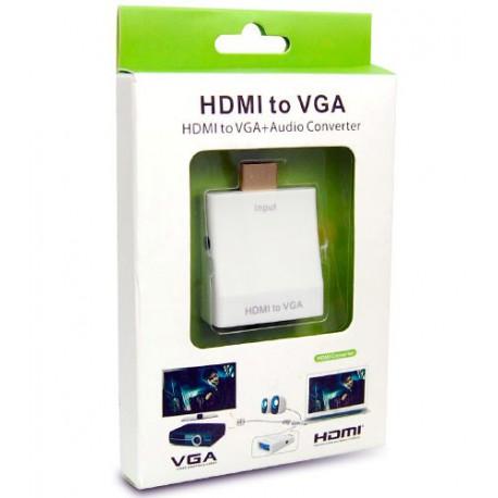 ADAPTADOR HDMI A VGA + CONVERSOR AUDIO