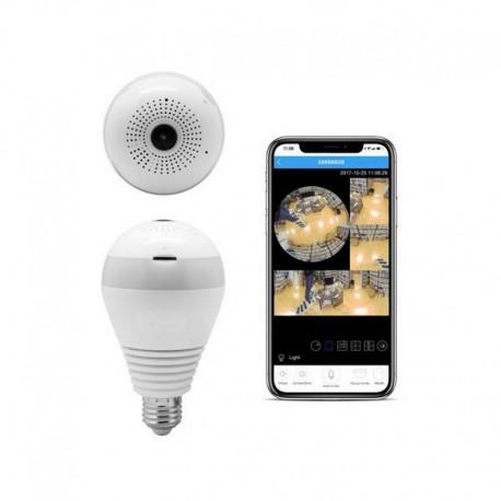 Bombilla con cámara de vigilancia 360 grados