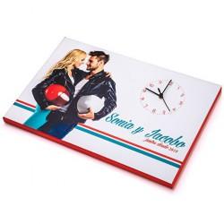 Foto Lienzo con Reloj