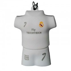Pendrive 16GB TECH ONE TECH EQUIPO FÚTBOL BLANCO MERENGUE