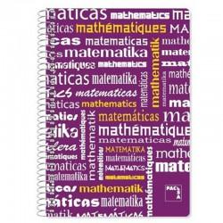 Cuaderno con Espiral Rayado SAM Matemáticas