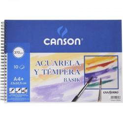 Cuaderno de Acuarelas y Témperas con Espiral Canson Basik C200400698